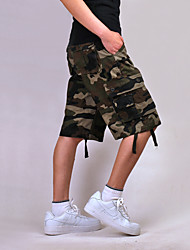 """cheap -Men's Hiking Cargo Shorts Camo / Camouflage Summer Outdoor 10"""" Relaxed Fit Lightweight Quick Dry Wear Resistance Multi Pocket Cotton Shorts Pants / Trousers Bottoms Camping / Hiking Hiking Climbing"""