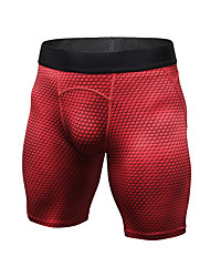cheap -Men's Compression Shorts Compression Base layer Underwear Shorts Bottoms Plus Size Lightweight Breathable Quick Dry Soft Sweat-wicking Red Blue Black+Sliver Winter Road Bike Mountain Bike MTB