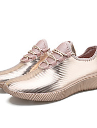 cheap -Women's Flats Flat Heel Round Toe Synthetics Casual Walking Shoes Spring &  Fall / Spring Gold / Silver / Black / Color Block