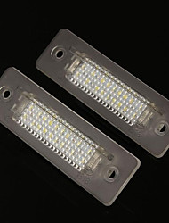 cheap -2pcs Wire Connection Car Light Bulbs 2 W 18 LED License Plate Lights For Porsche All Models / 911 All years