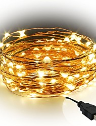 cheap -10m String Lights 100 LEDs SMD 0603 Warm White / White / Red Cuttable / Party / Decorative 5 V / IP65