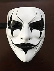 Недорогие -Маски Маска Хэллоуина Вдохновлен V — значит вендетта Фильм ужасов Белый Хэллоуин Хэллоуин Маскарад Взрослые Муж.
