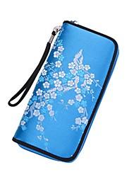 cheap -Women's PU Leather Wallet Floral Print Black / Blue / Purple