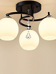 cheap -JSGYlights 3-Light 50 cm Flush Mount Lights Metal Glass Painted Finishes Country / Modern 110-120V / 220-240V / E26 / E27