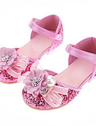 cheap -Girls' Comfort / Flower Girl Shoes PU Sandals Dress Shoes Little Kids(4-7ys) / Big Kids(7years +) Rhinestone / Sparkling Glitter / Sequin Pink Fall / Winter / Party & Evening / Rubber