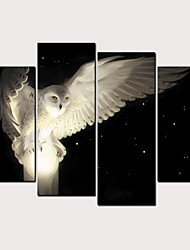 cheap -Print Rolled Canvas Prints - Birds Classic Modern Four Panels Art Prints