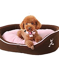cheap -Dog Pets Mattress Pad Bed Bed Blankets Breathable Warm Washable Pet Liners Oxford Cloth Plush Cotton Stripes Solid Colored Brown