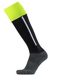 Недорогие -Муж. Жен. Футбольные носки Спортивные носки Носки для велоспорта компрессия Носки Длинные носки Дышащий Противозаносный Мягкий Впитывает пот и влагу Поддерживает Черный Синий Темно-синий Хлопок Зима