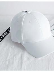 cheap -Unisex Basic Polyester Baseball Cap-Solid Colored White Black