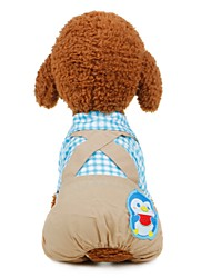 cheap -Dogs Outfits Winter Dog Clothes Blue Pink Costume Corgi Beagle Bulldog Fabric Color Block Character Sports & Outdoors Casual / Daily S M L XL XXL