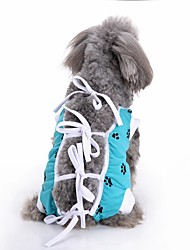 cheap -Dogs Coat Winter Dog Clothes Green Red Blue Costume Corgi Beagle Bulldog Terylene Polka Dot Unique Design Casual / Daily XS S M L