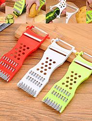 Недорогие -Нержавеющая сталь + пластик Приспособления для чеснока Овощные ножи Слайсер Творческая кухня Гаджет Кухонная утварь Инструменты Необычные гаджеты для кухни 1шт