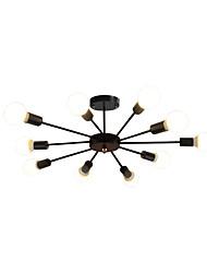cheap -10-Light Sputnik Chandelier Ambient Light Painted Finishes Metal 110-120V / 220-240V