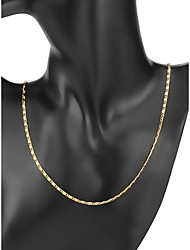 cheap -Men's Chain Necklace Classic Baht Chain Simple Classic Copper Gold Plated Gold 56/61 cm Necklace Jewelry 1pc For Daily Work