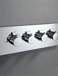 abordables -Accessoire de robinet - Qualité supérieure - Moderne Laiton Vanne de contrôle thermostatique - terminer - Chrome