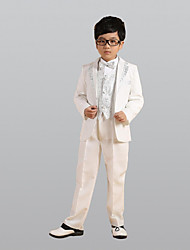 cheap -Gold / Silver Polester / Cotton Blend Ring Bearer Suit - 1 set Includes  Coat / Vest / Shirt