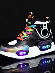 cheap -Boys / Girls USB Charging  LED / LED Shoes Lace / Microfiber Sneakers Toddler(9m-4ys) / Little Kids(4-7ys) / Big Kids(7years +) Walking Shoes LED Black / Purple Spring / Fall / Rubber
