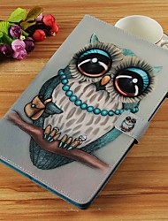 cheap -Case For Samsung Galaxy Tab S4 10.5 (2018) / Tab A2 10.5(2018) T595 T590 / Tab E 9.6 Wallet / Card Holder / with Stand Full Body Cases Owl Hard PU Leather