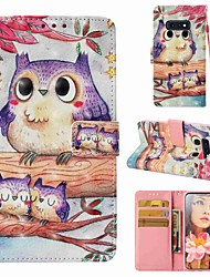 cheap -Case For Samsung Galaxy S9 / S9 Plus / S8 Plus Wallet / Card Holder / Flip Full Body Cases Owl Hard PU Leather