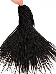 cheap -Braiding Hair Straight Crochet Hair Braids Synthetic Extentions Synthetic Hair 1 pc Hair Braids Black 18 inch 18 inches Synthetic Extention Crochet Braids Dailywear Street Festival Other