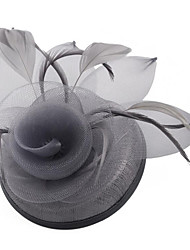 cheap -Women's Ladies Tiaras Fascinators For Wedding Party / Evening Prom Princess Feather Fabric White Light gray Black