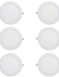 cheap -6pcs 18 W 1350 lm 66 LED Beads Easy Install Recessed LED Downlights Warm White Cold White 220-240 V Ceiling Commercial Home / Office / CE Certified / 210