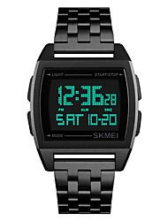Недорогие -SKMEI Муж. электронные часы Цифровой Нержавеющая сталь Черный / Серебристый металл / Золотистый 30 m Защита от влаги Календарь Хронометр Цифровой На каждый день Мода - Черный Серебряный Розовое золото