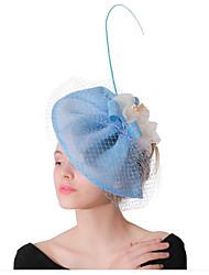 cheap -Women's Fascinators For Prom Princess Fabric Light Blue