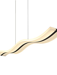 cheap -1-Light Lightinthebox 11.8 cm LED Pendant Light Acrylic Linear Chrome Modern Contemporary 90-240V