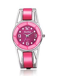 cheap -Women's Wrist Watch Quartz Stainless Steel Pink Casual Watch Adorable Analog - Digital Bangle - Black Blue Pink