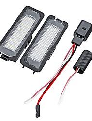 cheap -2pcs Car Light Bulbs 18 License Plate Lights For Volkswagen / Porsche / Passat Lupo / Polo / Eos All years