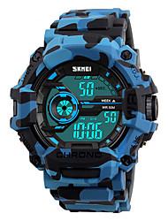 Недорогие -SKMEI Муж. электронные часы Цифровой силиконовый Синий / Оранжевый / Зеленый 50 m Защита от влаги Календарь Хронометр Цифровой Мода Цветной - Оранжевый Зеленый Синий