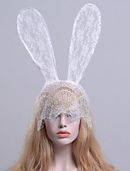 cheap -Rabbit Mascot Easter Bunny Ears Headband Adults' Women's Cosplay Halloween Carnival Festival / Holiday Lace White / Black / Red Carnival Costumes Lace