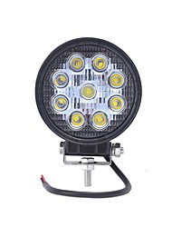 cheap -1pcs Wire Connection Car Light Bulbs 27 W COB 2550 lm 9 LED Fog Lights / Headlamps For universal All years