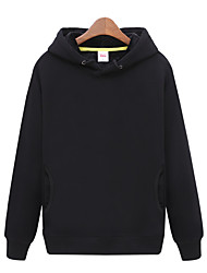 cheap -Men's Hoodie Winter Outdoor Breathable Top Cotton Invisible Outdoor Exercise Black / White / Pink / Grey