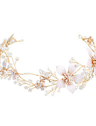 cheap -Alloy Headbands with Imitation Pearl 1 Piece Wedding / Party / Evening Headpiece