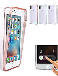 cheap -Case For Apple iPhone XS / iPhone XR / iPhone XS Max Shockproof / Ultra-thin / Transparent Full Body Cases Solid Colored Hard PC
