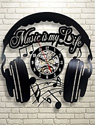 cheap -Music is my life vinyl record wall clock - contemporary music fan art