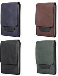 abordables -Coque Pour Blackberry / Apple / Samsung Galaxy Universel Porte Carte Sacs Banane / Petit sac Couleur Pleine Flexible faux cuir