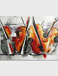 cheap -Oil Painting Hand Painted - Abstract Still Life Modern Stretched Canvas