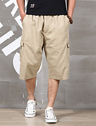 """cheap -Men's Hiking Shorts Summer Outdoor 12"""" Relaxed Fit Breathable Quick Dry Sweat-wicking Wear Resistance Cotton Pants / Trousers Bottoms Camping / Hiking Fishing Hiking Black Grey Khaki L XL XXL XXXL 4XL"""