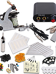 cheap -Tattoo Machine Starter Kit - 1 pcs Tattoo Machines with 1 x 5 ml tattoo inks, Professional Mini power supply 1 steel machine liner & shader