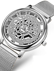 cheap -Men's Skeleton Watch Quartz Fashion Hollow Engraving Analog Black Gold Silver / Stainless Steel / Stainless Steel