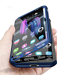 cheap -Phone Case For Samsung Galaxy Full Body Case A8 2018 A8 A7 Shockproof Solid Color Hard PC