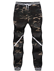 cheap -Men's Jogger Pants Joggers Running Pants Beam Foot Drawstring Cotton Sports Pants / Trousers Sweatpants Bottoms Jogging Lightweight Quick Dry Plus Size Police / Military Green Grey / Micro-elastic
