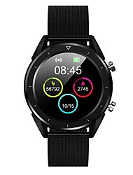 cheap -DT28S Smart Watch Steel Stainless BT Fitness Tracker Support Notify/ Heart Rate Monitor Sports Smartwatch Compatible with iPhone/ Samsung/ Android Phones