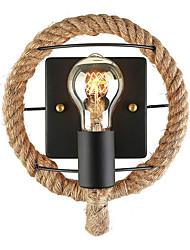 cheap -JSGYlights Mini Style / Cute Simple / Retro / Vintage Wall Lamps & Sconces Living Room / Dining Room Hemp Rope Wall Light 110-120V / 220-240V 60 W