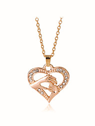cheap -Women's Pendant Necklace Heart Hand Sweet Fashion Modern Zircon Chrome Gold Silver Rose Gold 50 cm Necklace Jewelry 1pc For Gift Daily Festival