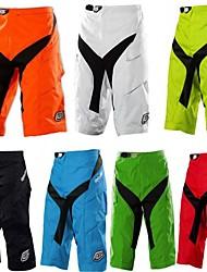 cheap -Men's Downhill Shorts Cycling MTB Shorts Bike Pants Bottoms Breathable Quick Dry Rainproof Sports Plaid / Checkered Cotton Black / Black / Silver / Green / Yellow Mountain Bike MTB Road Bike Cycling