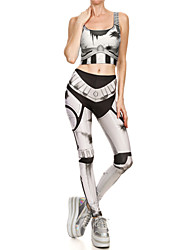 cheap -Catsuit Swimsuit Swimwear Cosplay Costumes Beach Girl Adults' Cotton Cosplay Costumes Cosplay Halloween Women's Gray Printing Christmas Halloween Carnival / Vest / Pants / Vest / Pants
